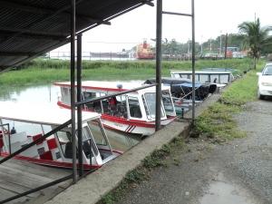 Boarding the boat to Tortuguero
