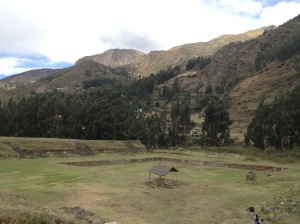 Main plaza at Chavin